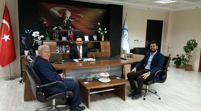 SGK İl Müdürü Ercan'a Lapseki Belediye Başkanından Ziyaret