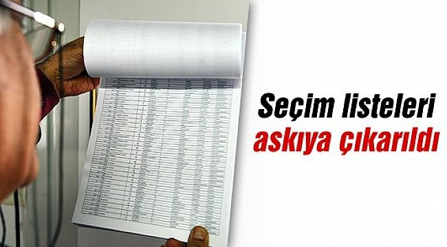 Seçmen Listeleri Muhtarlıklarda Askıya Asıldı