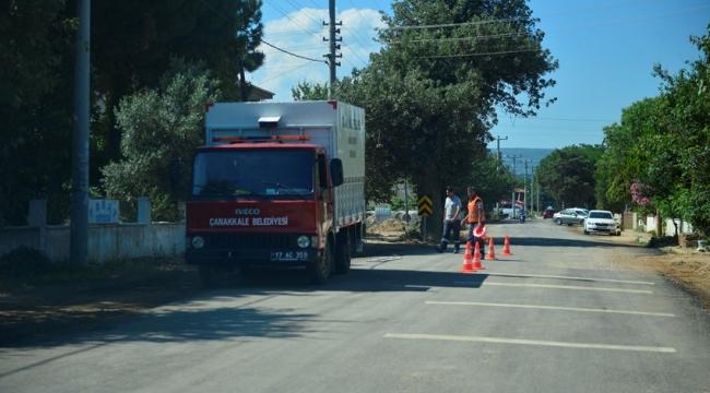 Dardanos'ta Asfalt Çalışmaları Sürüyor...