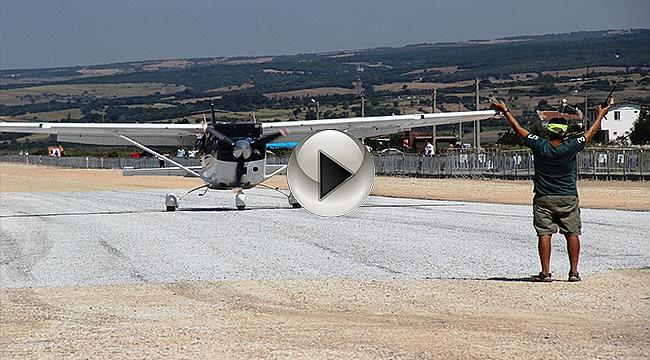 'Troy Air Fest' Start Aldı! Çocuklar Uçmanın Keyfini Yaşadı...