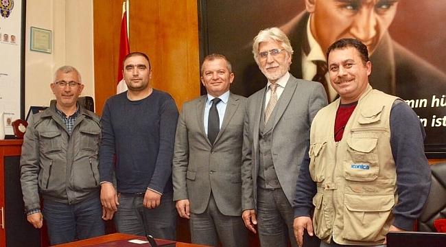 Lapseki'de basın mensuplarından jandarma ve emniyete ziyaret...