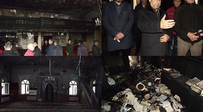 Cami yangınında 1 kişi gözaltında