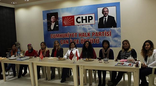 Chp Çan İlçe Kadın Kolları Seçimi Yapıldı