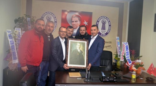 A.D.D. Çan Şube Başkanlığından Emin Görgün'e Ziyaret