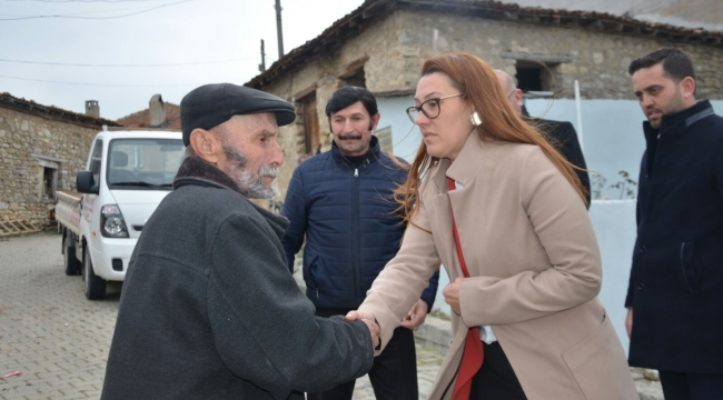Başkan Karadağ'dan evi yanan muhtara geçmiş olsun ziyareti