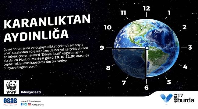 17 BURDA AVM ''Dünya Saati Uygulamasına Destek Veriyor, Dünyaya Bağlanıyoruz''…