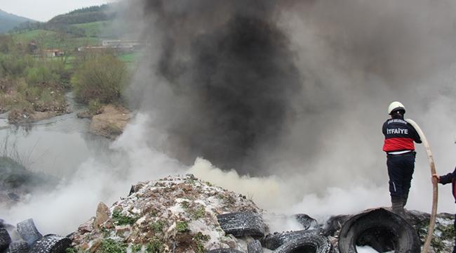 Çan'da Korkutan Yangın
