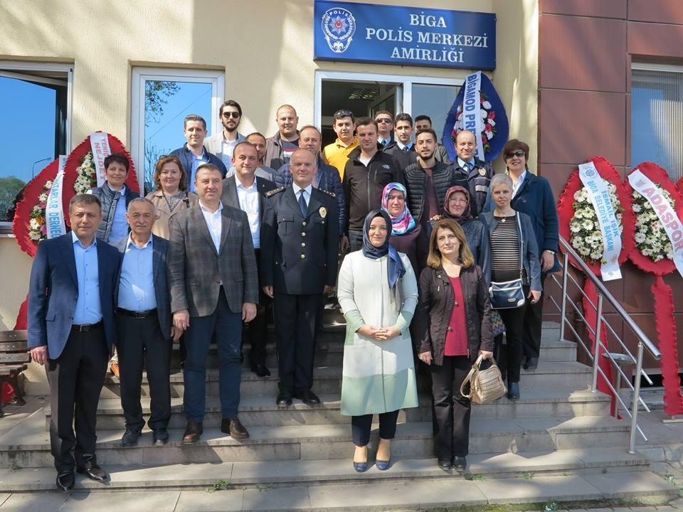 AK Parti ilçe teşkilatından Polis Günü ziyareti