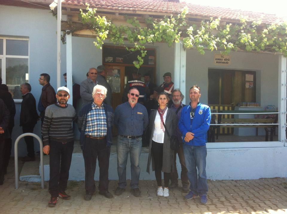 Asmalı Köyü'nde Kireç Taşı Ocakları ÇED Halkı Bilgilendirme Toplantısı Halkın Protestosu Nedeniyle Yapılamadı