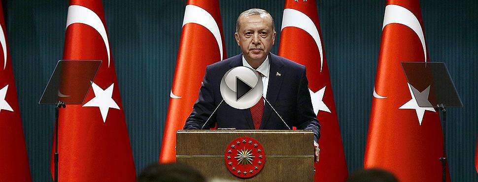 """Cumhurbaşkanı Erdoğan: """"Seçimlerin 24 Haziran 2018 tarihinde yapılmasına karar verdik"""""""