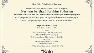 Dr. Hacı İbrahim Bodur´un Vefatının 2.Yılı Anısına İftar Yemeği Verilecek