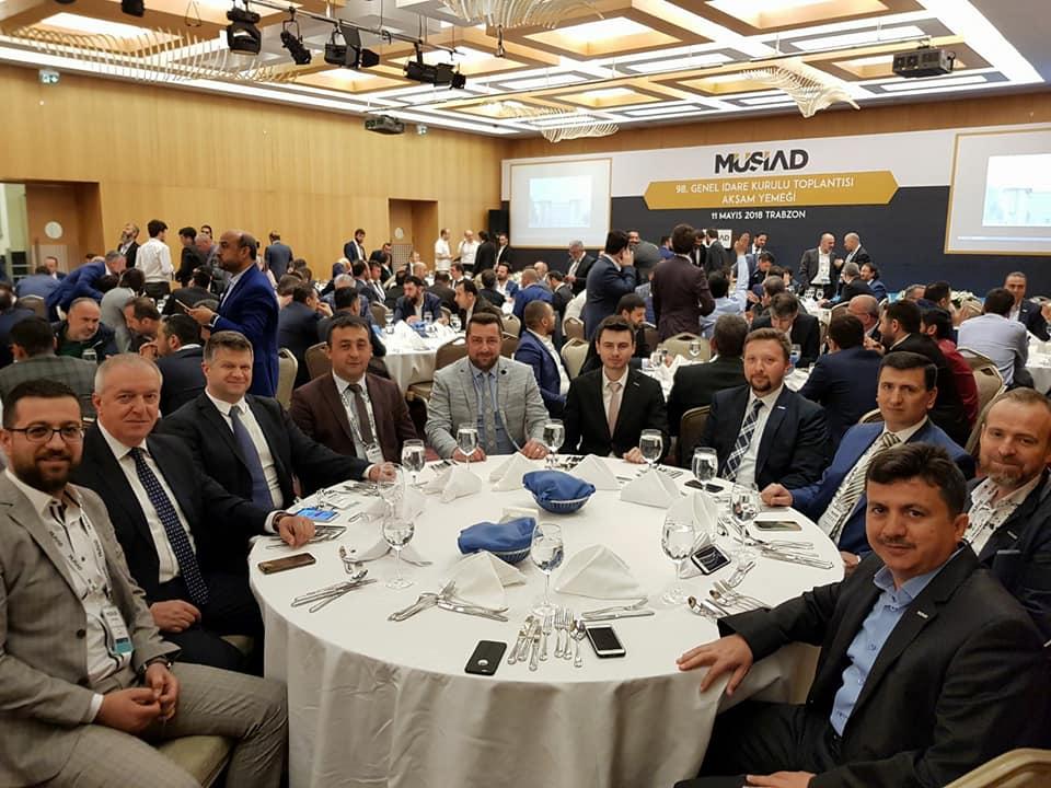 MÜSİAD Çanakkale Şubesi Trabzon'da gerçekleştirilen 98. GİK Toplantısına katıldı.