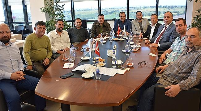 Sınırlı sorumlu Çanakkale Küçük Sanayi Sitesi Yapı Kooperatifi yönetiminden yönetim kurulumuza ziyaret