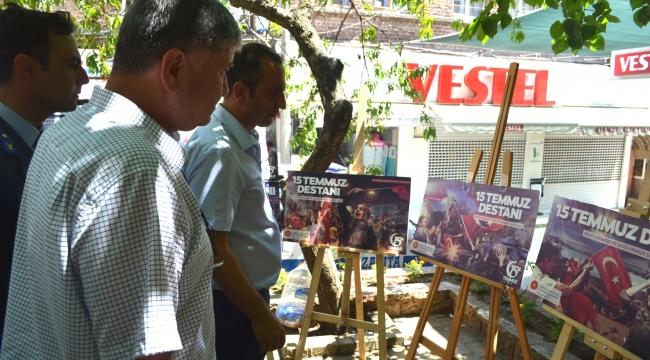 Ayvacık'ta 15 Temmuz Şehitleri anısına resim sergisi