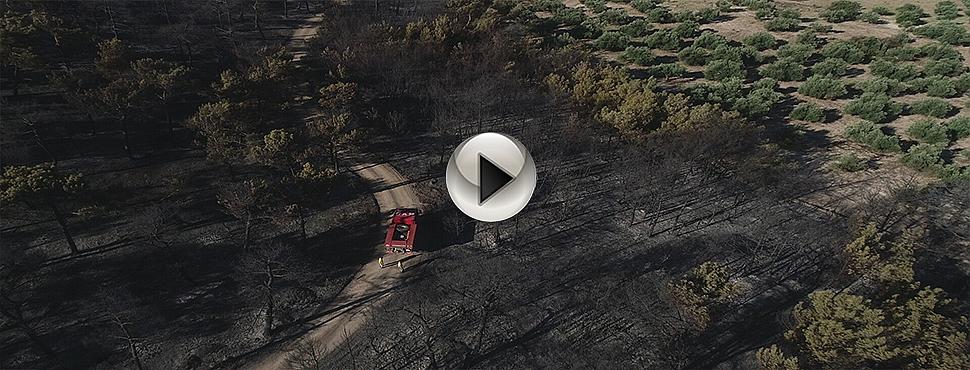 Çanakkale'nin yanan ciğerleri havadan görüntülendi