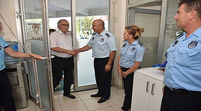 Başkan Gökhan'dan Zabıta Personeline İade-İ Ziyaret