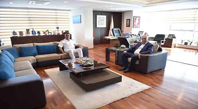 Tuğamiral Uça'dan Başkan Gökhan'a Ziyaret