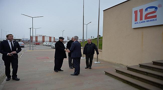 Başkan Gökhan 112 Acil Çağrı Merkezini Ziyaret Etti.