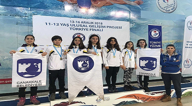 Çanakkale Belediyespor Yüzme Takımı Kentimizi Gururlandırdı
