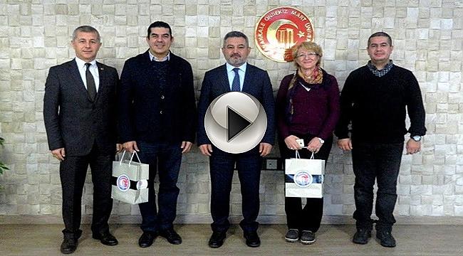 Kültür Rotaları Proje Ekibinden Rektör Prof. Dr. Yücel Acer'e Ziyaret