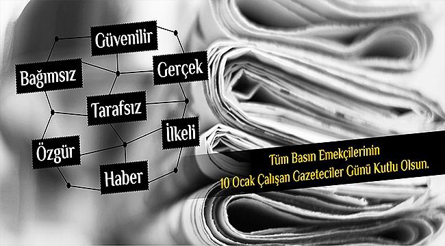 Belediye Başkanı Sayın Ülgür Gökhan'ın 10 Ocak Çalışan Gazeteciler Günü Mesajı