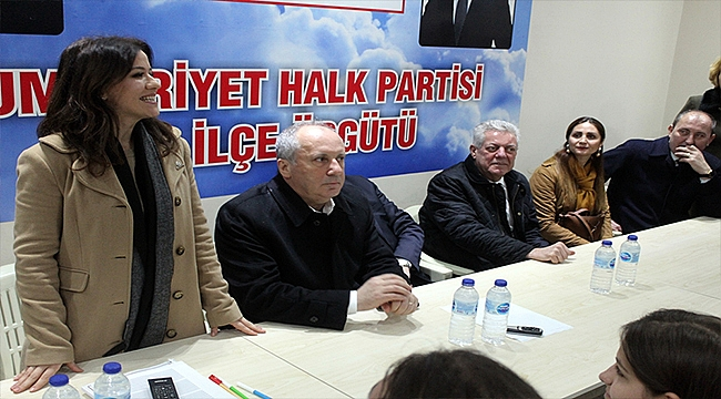 MUHARREM İNCE'DEN BÜLENT ÖZ'E DESTEK ZİYARETİ