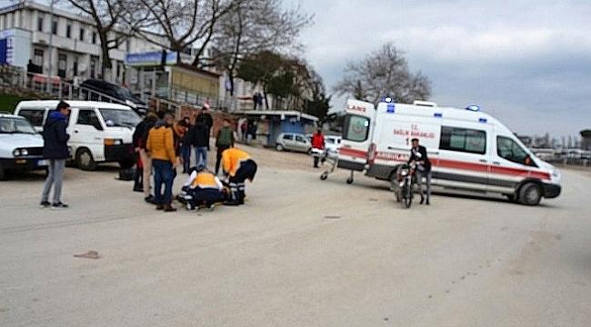 BİGA'DA 2 MOTOSİKLET KAFA KAFAYA ÇARPIŞTI