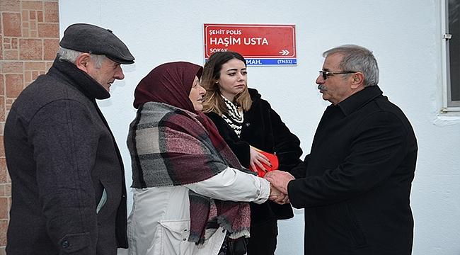 ŞEHİT POLİSİN ADI SONSUZA DEK YAŞAYACAK