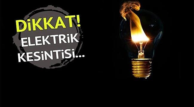 ELEKTRİK KESİNTİSİ VAR DİKKAT!