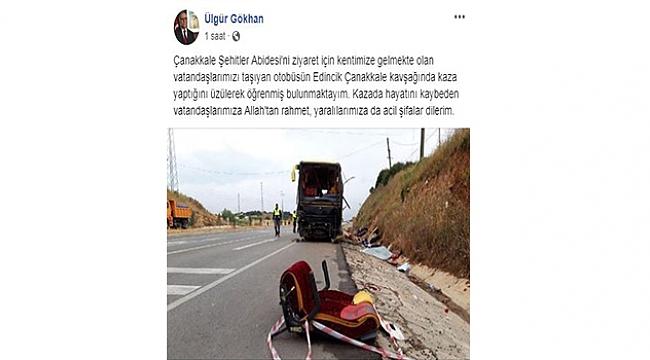 TUR OTOBÜSÜ İLE OTOMOBİL ÇARPIŞTI!