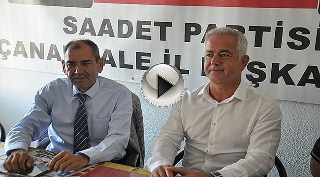 CHP İL BAŞKANLIĞI'NDAN SAADET PARTİ'SİNE ZİYARET