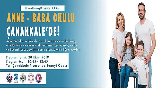 ANNE-BABA OKULU ÇANAKKALE'DE!
