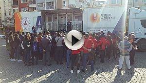DEPREM SİMÜLASYON TIRI ÇANAKKALE'DE