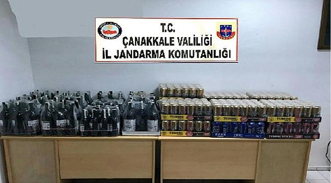 İZİNSİZ ALKOLLERE EL KONULDU