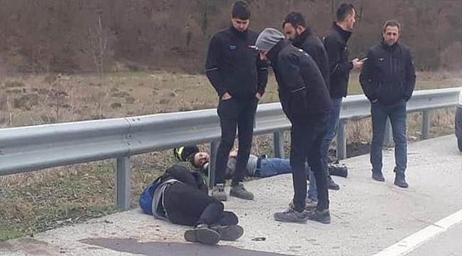 BİGA-ÇAN YOLUNDA MOTOSİKLET KAZASI!