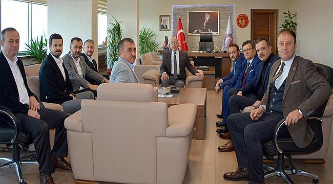 MECLİS ÜYELERİ REKTÖR MURAT'I ZİYARET ETTİ