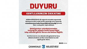 BELEDİYEDEN ÖNEMLİ DUYURU!