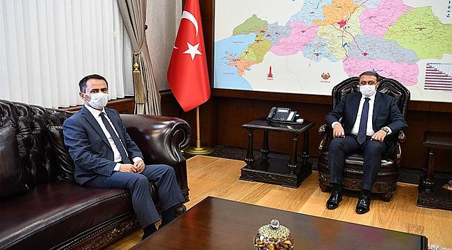 VALİ AKTAŞ, BALIKESİR VALİSİ HASAN ŞILDAK'I ZİYARET ETTİ