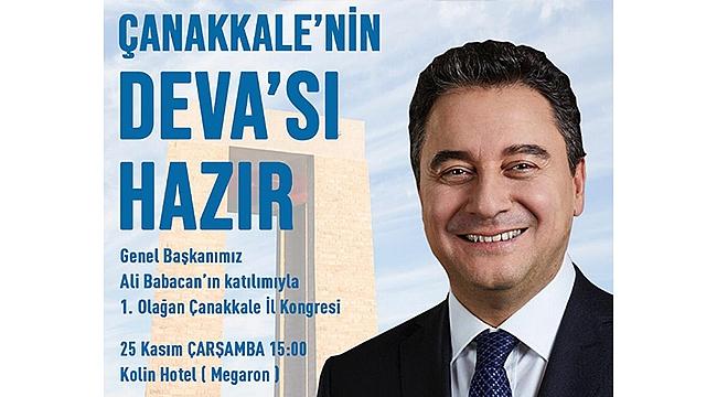 BABACAN ÇANAKKALE'YE GELİYOR!