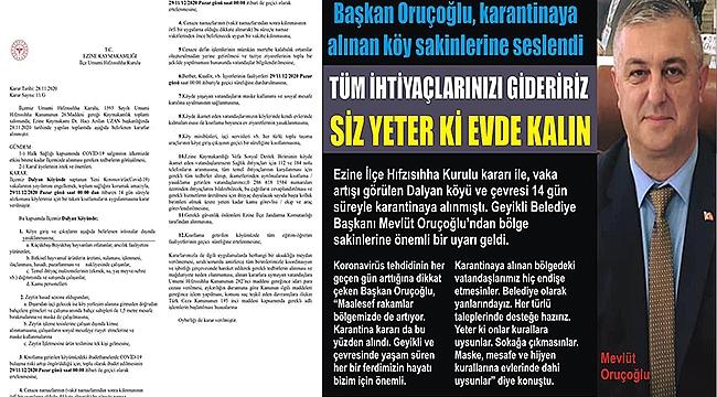 ÇANAKKALE'YE BİR KARANTİNA DAHA!