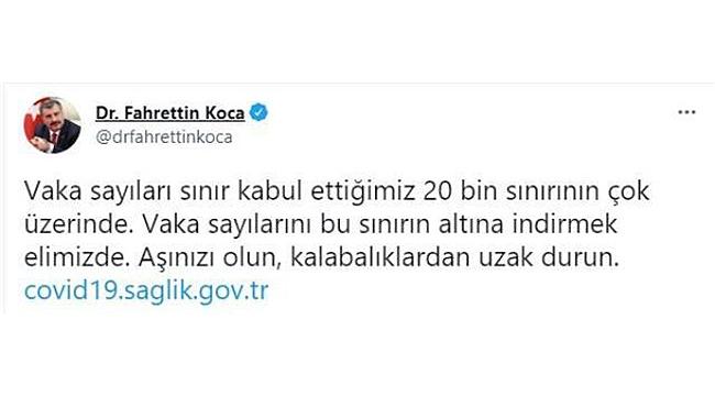 BAKAN KOCA'DAN AŞI OLMAYANLARA KÖTÜ HABER!
