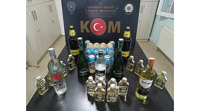 ÇOK SAYIDA KAÇAK ALKOL ELE GEÇİRİLDİ!
