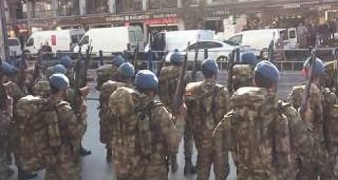 Kayseri'deki Komandolar Kayseri Şehir Merkezini İnletti
