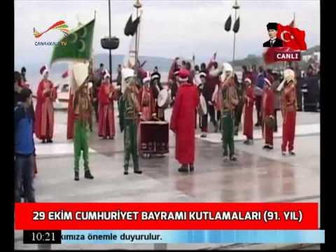 29 Ekim 2014 Cumhuriyet Bayramı Kutlaması - Çanakkale TV