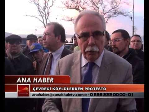 ÇEVRECİ KÖYLÜLERDEN PROTESTO
